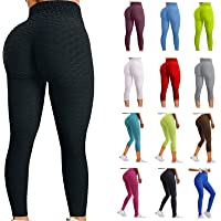 $36 » WANGPU High Waist Yoga Pants for Women,Hip Butt Lifting TIK Tok Leggings Workout Body Shaper Control Slimming Booty Tights