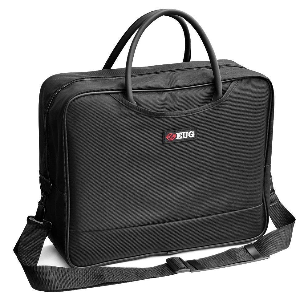 Universal Projector Carrying Case Soft Laptop Travel Shoulder Bag with Detachable Shoulder Strap - 14x12x5 inch - for Optoma HD142X, ViewSonic PJD7828HDL, Epson EX3240 and More Small Travel Projectors