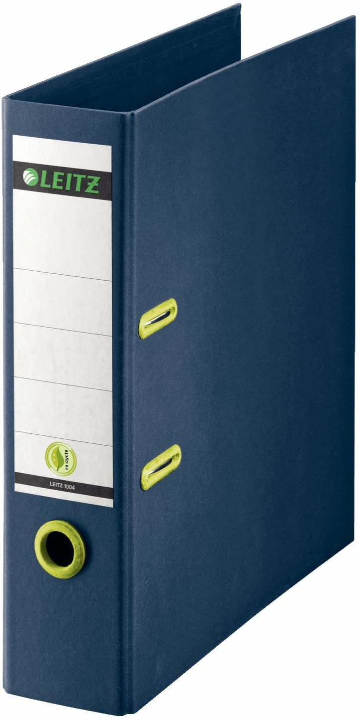 re:Cycle Range 8 cm Width Dark Blue 10040069 A4 Leitz Lever Arch File