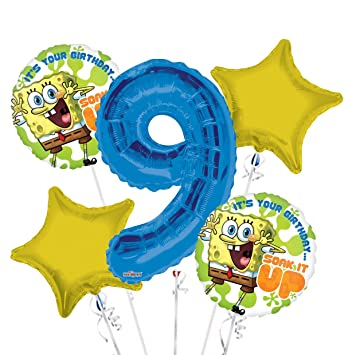 Amazon.com: Bob Esponja es tu cumpleaños remojar IT up ramo ...