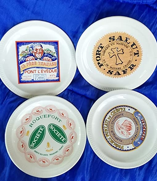 Fromages de France cheese plates set of 4  sc 1 st  Amazon.com & Amazon.com | Fromages de France cheese plates set of 4: Cheese Plates