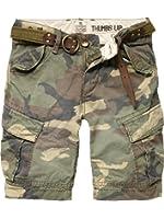 Scotch & Soda Shrunk Jungen Hose 12410281513 - military cargo short, loose fit+belt