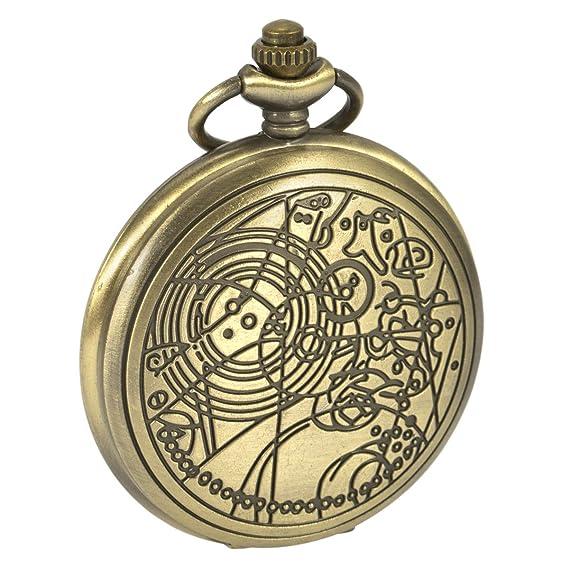 Reloj de Bolsillo Doctor Que Doctor Who De la Vendimia de Retro médicoqueel Cadena y la Caja de Regalo