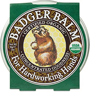 product image for Badger - Hardworking Hands Healing Balm, Aloe Vera & Wintergreen, Working Hand Balm, Balm, for Dry Hands, Hand Moisturizer Balm, Certified Organic Hand Balm, Hand Repair Balm, 2 oz