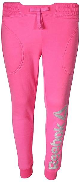 b757f08a5bcb29 Reebok Girl\'s Fleece Active Jogger Pants, Varsity Pink, Small'