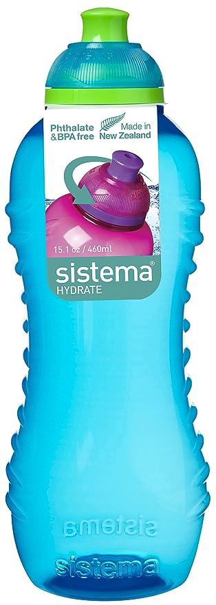 Sistema Hydrate Twist n Sip - Botella de plastico, Azul, 460 ml