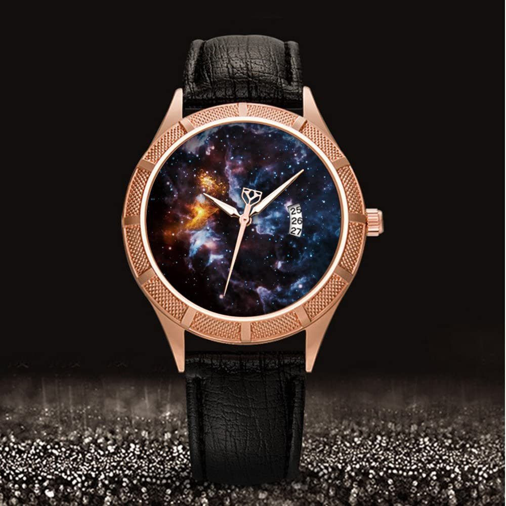Reloj de pulsera dorado, calendario, fecha, delgado, clásico ...