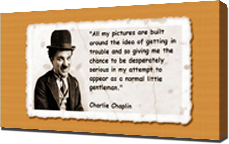 CHARLIE CHAPLIN AND HIS QUOTE PHOTO PRINT ON FRAMED CANVAS WALL ARTDECORA DECOR