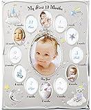 Kishima 露娜系列 宝宝成长记录相框 KP-31142 0~12个月