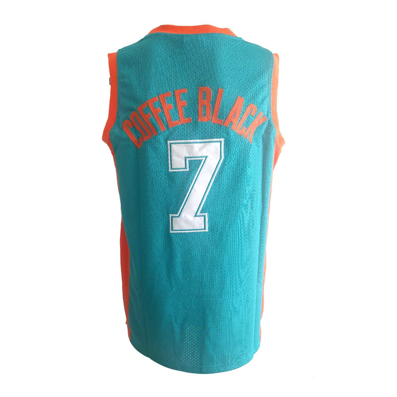 OKnown Mens Flint Tropics Movie #7 Coffee Black Basketball Stitched Jersey Green