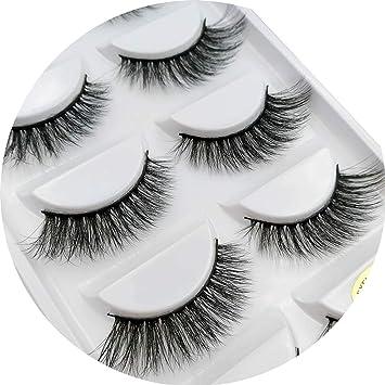 b14cf5b8675 Amazon.com : 1 box mink eyelashes natural long 3d mink lashes hand made  false lashes plastic cotton stalk makeup false eyelash, 806 : Beauty