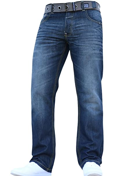 a626c491aef Crosshatch New Mens Boys Straight Leg Smart Fashion Jeans Trousers in All  Waist   Sizes  Amazon.co.uk  Clothing