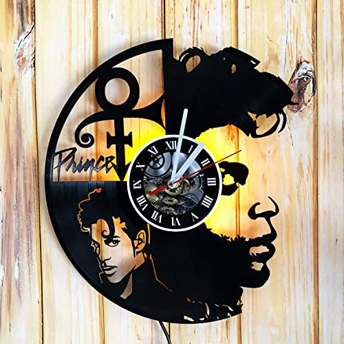Pink Floyd Backlight Vinyl Wall Clock Night Atmosphere Light Lamp Creative Classic Cool Living Room Interior Decor Led Time Clock With Light Handmade Products Home Decor