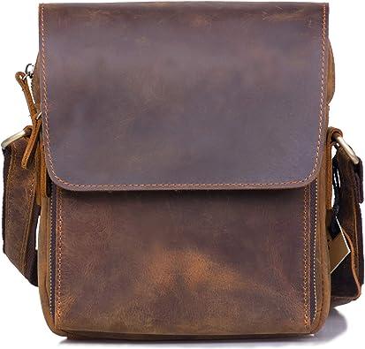 Men 100/% Genuine Leather Crossbody Shoulder Messenger Handbag Tablet Satchel bag