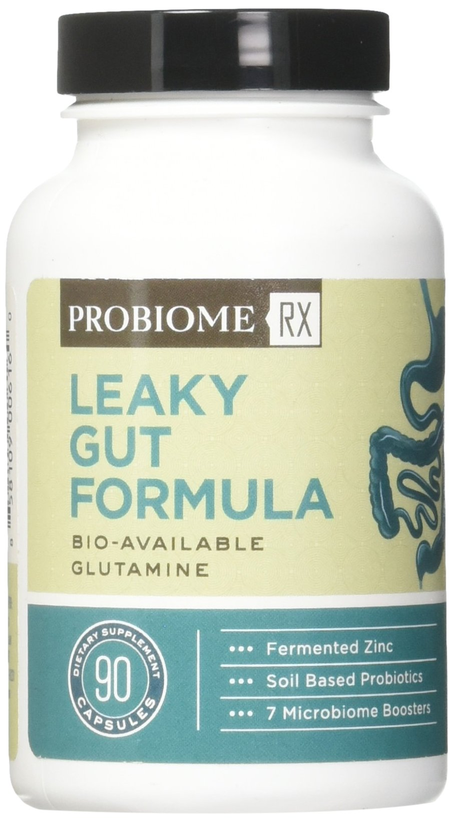 ProBiome Rx Leaky Gut Formula Supplements, 90 Count - with Gut-Integrity Blend of L-Glutamine and Licorice Root