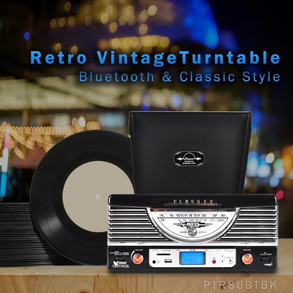 Amazon.com: Pyle ptr8ur Tocadiscos retro con vinyl-to-mp3 ...