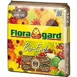 Floragard Bio-Erde ohne Torf 7,5 L natürliche Bio-Universalerde für Balkon-, Kübel-, Zimmerpflanzen und Gemüse torffrei mit Bio-Dünger und Kompost
