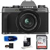 Fujifilm X-T200 Mirrorless Digital Camera with 15-45mm Lens (Dark Silver) Bundle: Includes, SanDisk 64GB SDXC Memory…