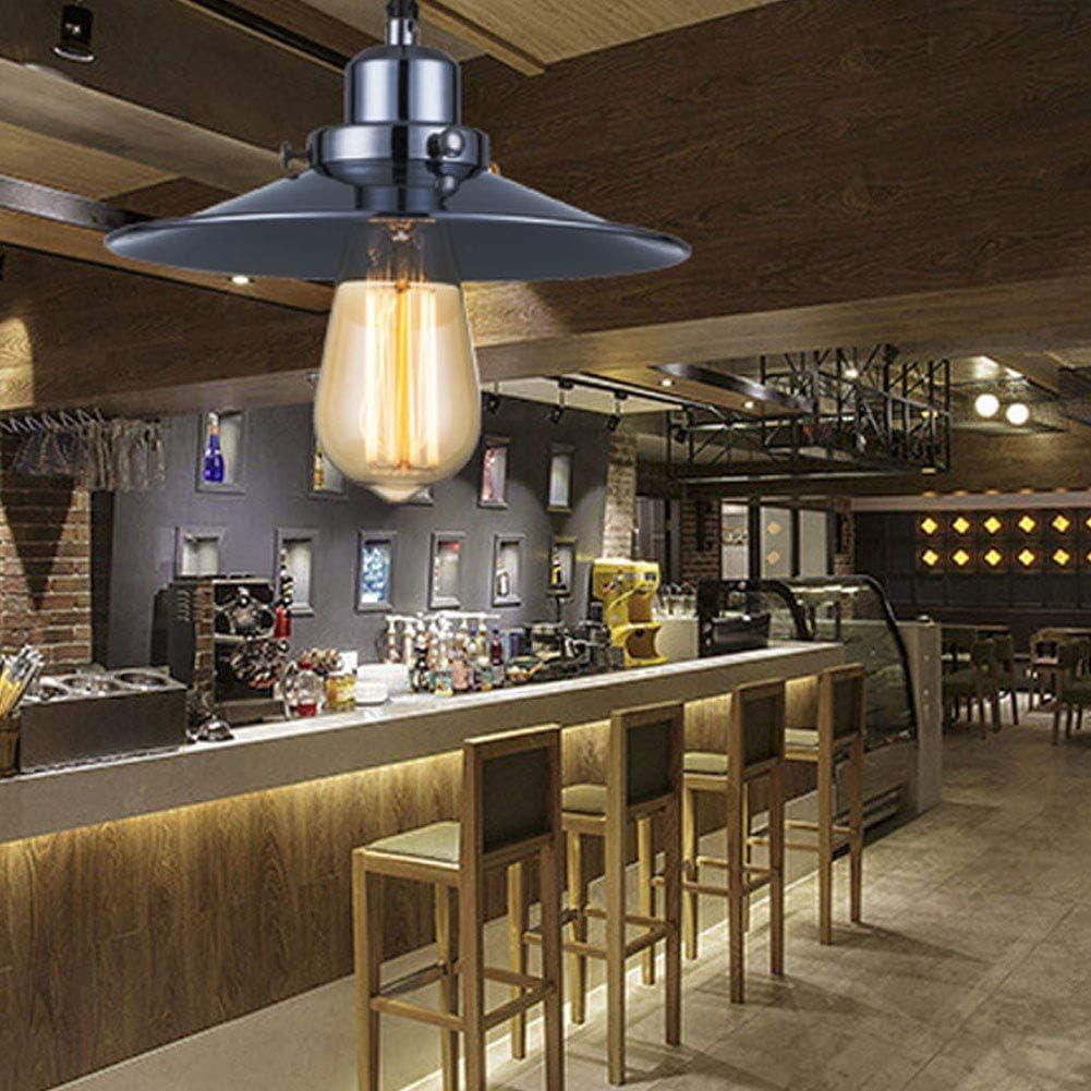 TiandaoMXL E27 LED Droplight Retro Creative Buffet Restaurant Single Head Droplight Of Little Black Dress Led Light Color : Warm White, Size : AC 110V