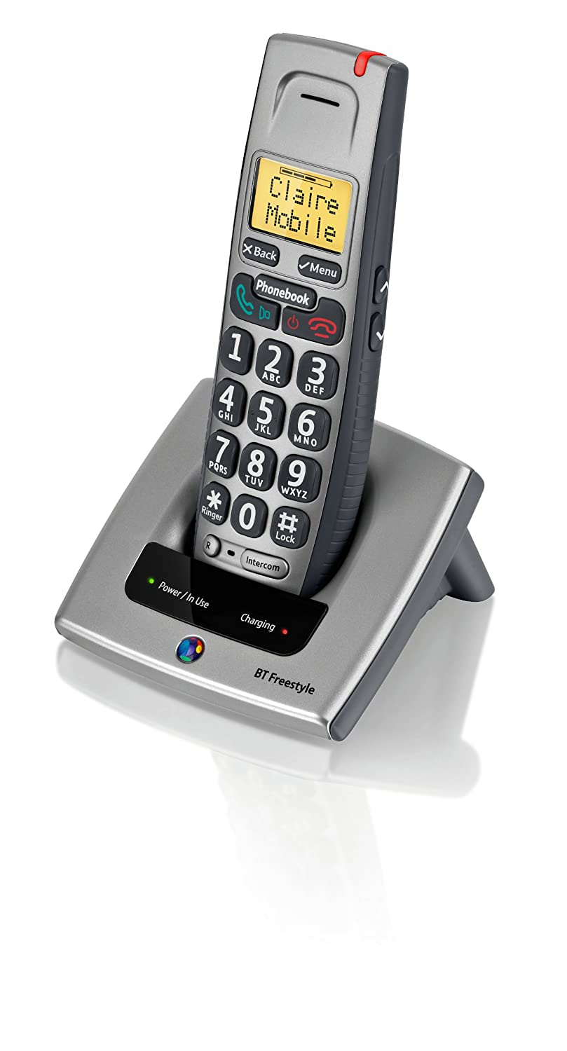 BT Freestyle 710 Single DECT Phone - Titanium Grey: Amazon.co.uk:  Electronics