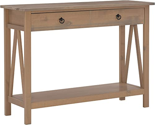 Linon Titian Driftwood Console Table