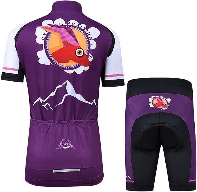 Ateid Maillot de Ciclismo y Pantalones Cortos para Niños: Amazon ...
