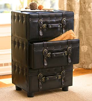 Captivating Suitcase Side Table