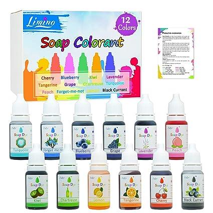 Amazon.com: 12 Color Bath Bomb Soap Dye - Skin Safe Bath Bomb ...