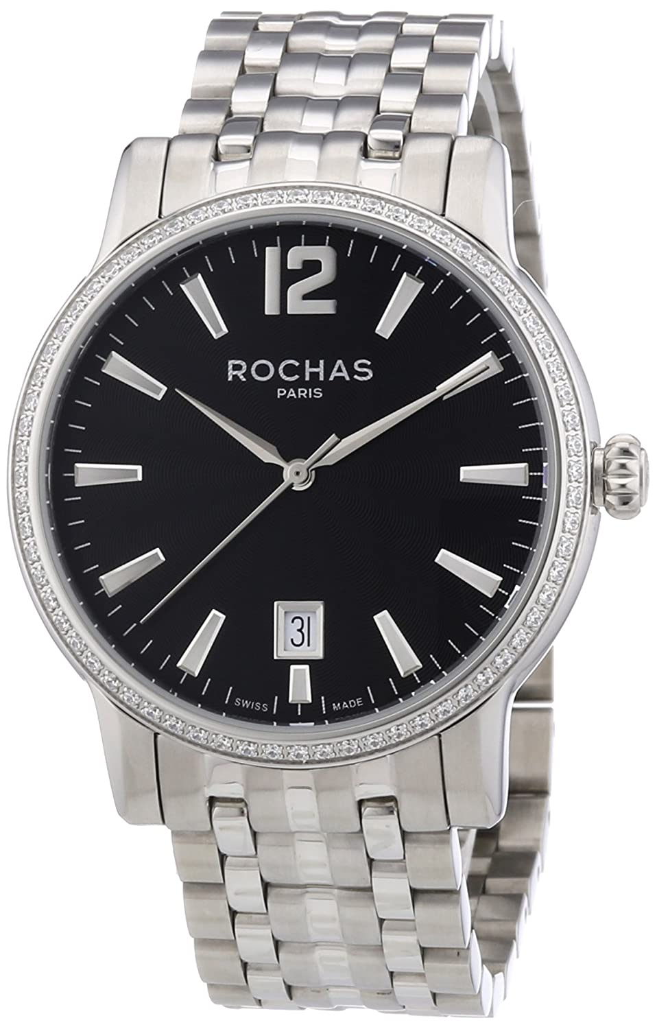 Rochas Herren-Armbanduhr XL Rochas De Luxe Men`s Collection 2012 Analog Quarz Edelstahl RH70713