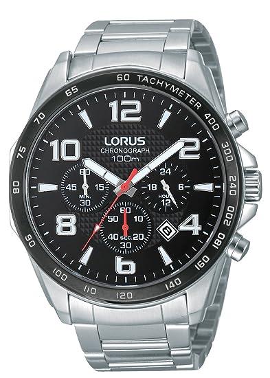 a2e1d1696c91 Lorus Reloj Analógico de Cuarzo para Hombre con Correa de Acero Inoxidable  - RT351CX9  Amazon.es  Relojes