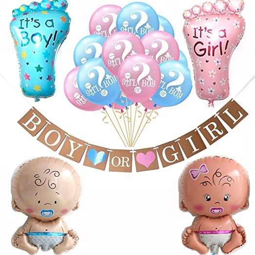 New KID Gender Reveal It/'s a Girl Boy balloon baby shower new baby party baloons