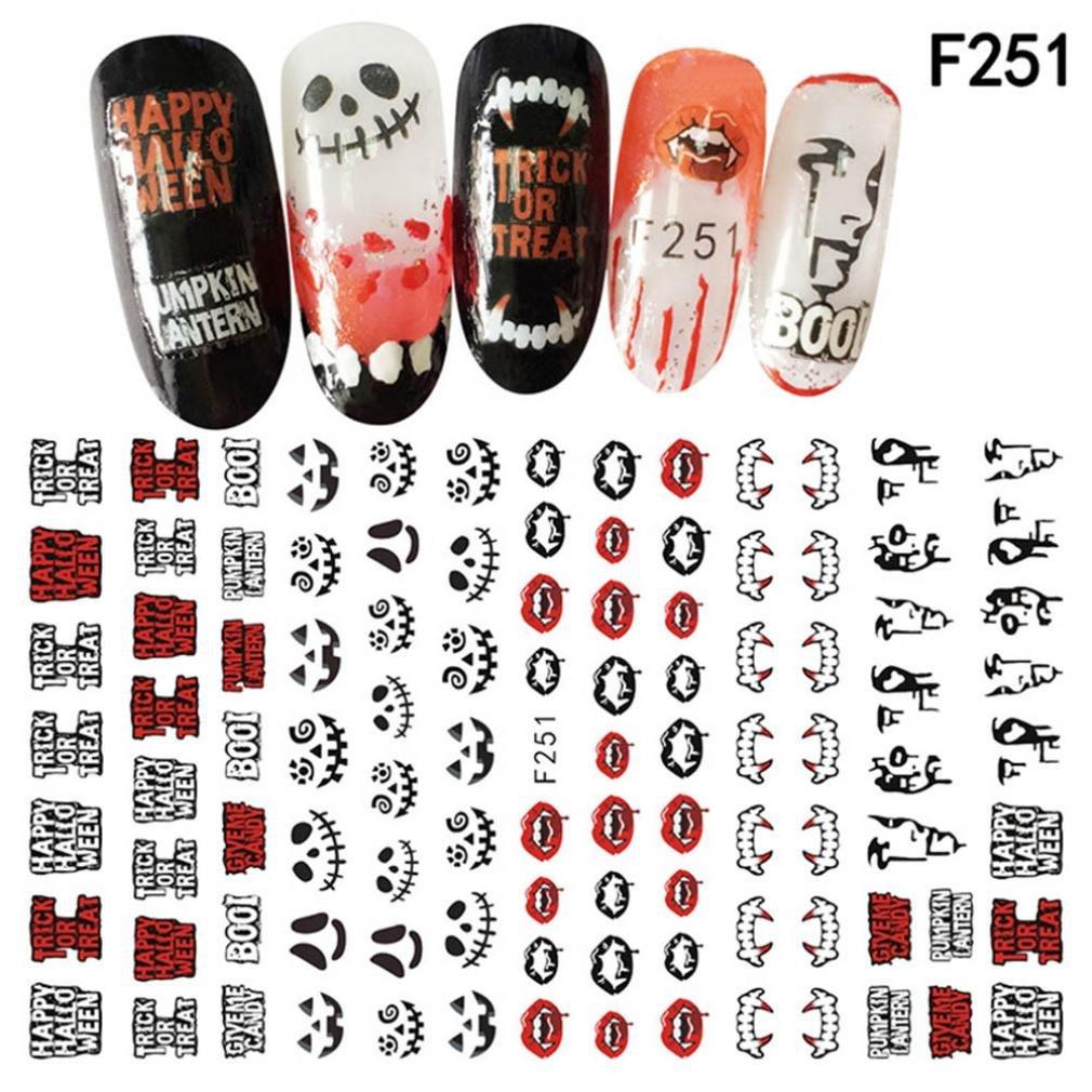 Autocollant de transfert de manucure Igemy pour nail art et décalcomanies d'Halloween