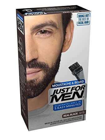 Amazon.com : JUST FOR MEN Color Gel Mustache & Beard M-55 Real ...