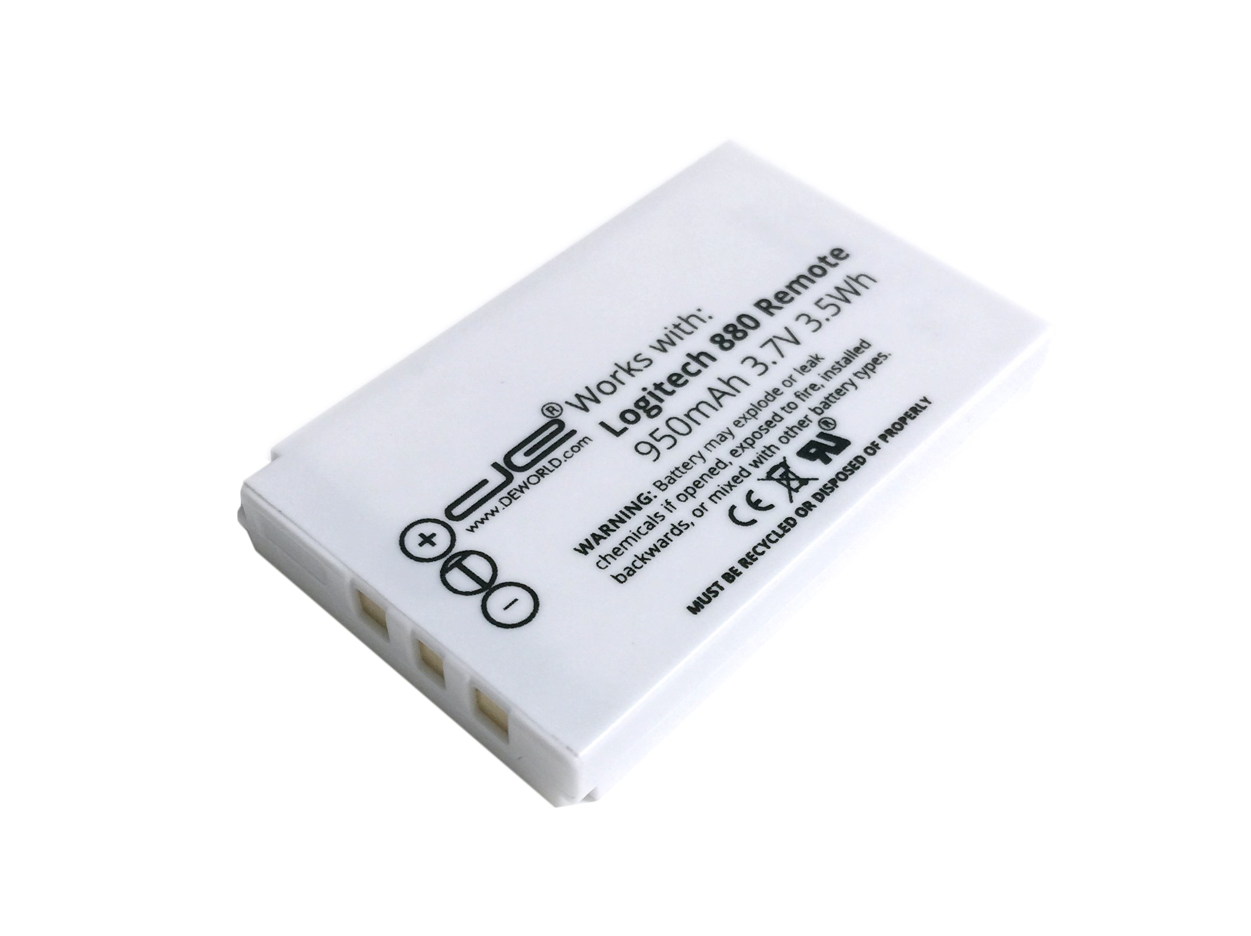 Logitech Harmony Remote Control Replacement Rechargeable Battery - Harmony One, Harmony One Advanced, Harmony 720, 850, 880, H880, 880 Pro, 885, 890, 890 Pro, 900, 900 Pro, Harmony 1, Harmony 1 Advanced Battery, Replaces 190304-0000 190304-2000 R-IG7 NTA2