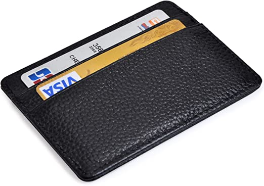 Black Vinyl Case Credit or Debit Card Holder store Business or Gift Cards