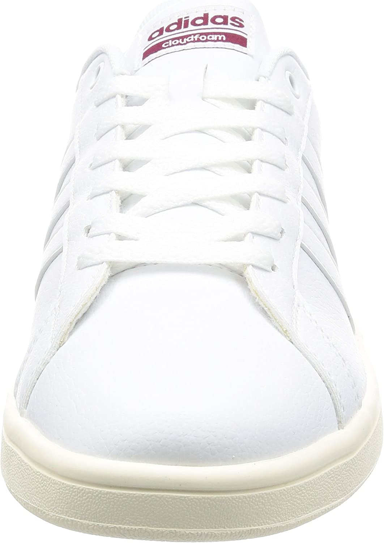 adidas Herren Cloudfoam Advantage Sneaker, grau Weiß (Ftwwht/Ftwwht/Cburgu)