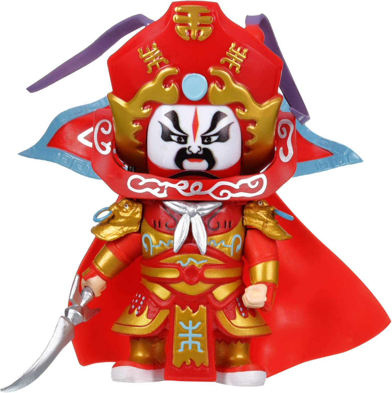 New Year Gifts, Face-Changing Robot Dolls Sichuan Opera Face-Changing Dolls Figure with Face-Changing Music Chinese Folk Art Element for Friends