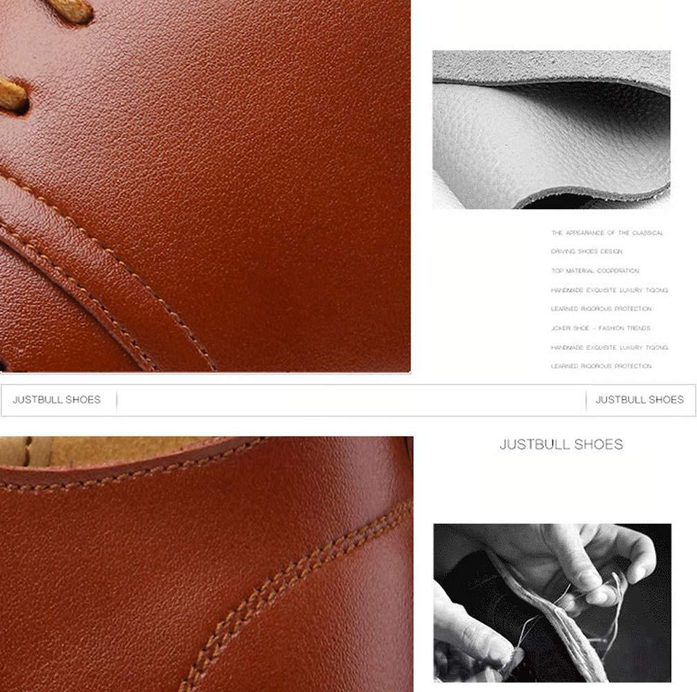TAZAN Zapatos Comodos Oxford de Cordones para Hombre Cuero de Imitaci/ón Brogue Vestir Derby Informal Negocios Boda Calzado Respirable Negro Marr/ón Azul