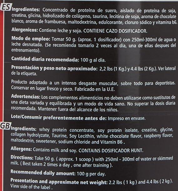 WD Nutrition - Proteina, sabor chocolate blanco y frambuesa ...