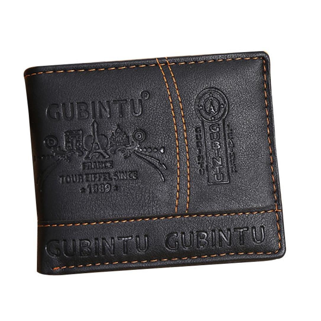 Billetera Kukul Hombres de cuero tarjeta de recibos de efectivo titular organizador