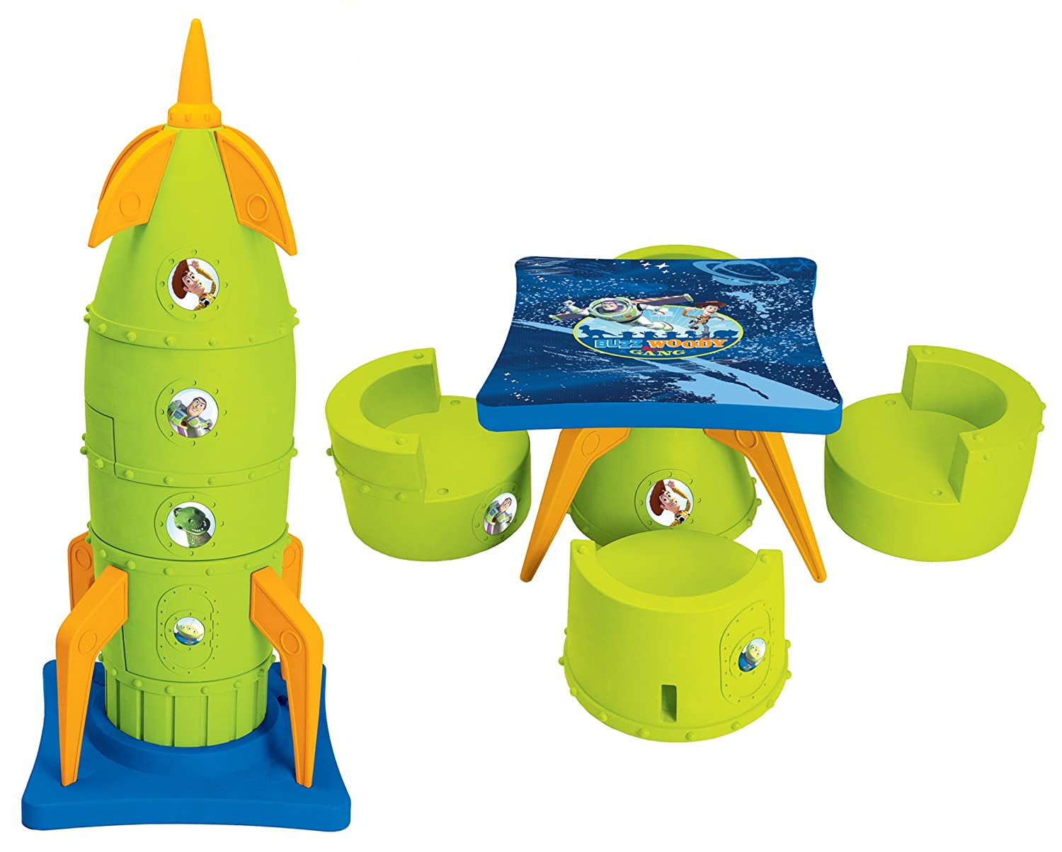 Amazon.com: Kids Only Toy Story Rocket Table Set: Toys & Games