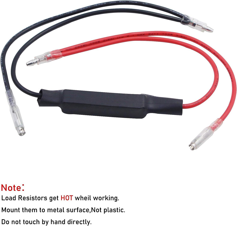 Motorcycle 12v Load Resistors LED Flasher Resistor Turn Signal Indicator Lights