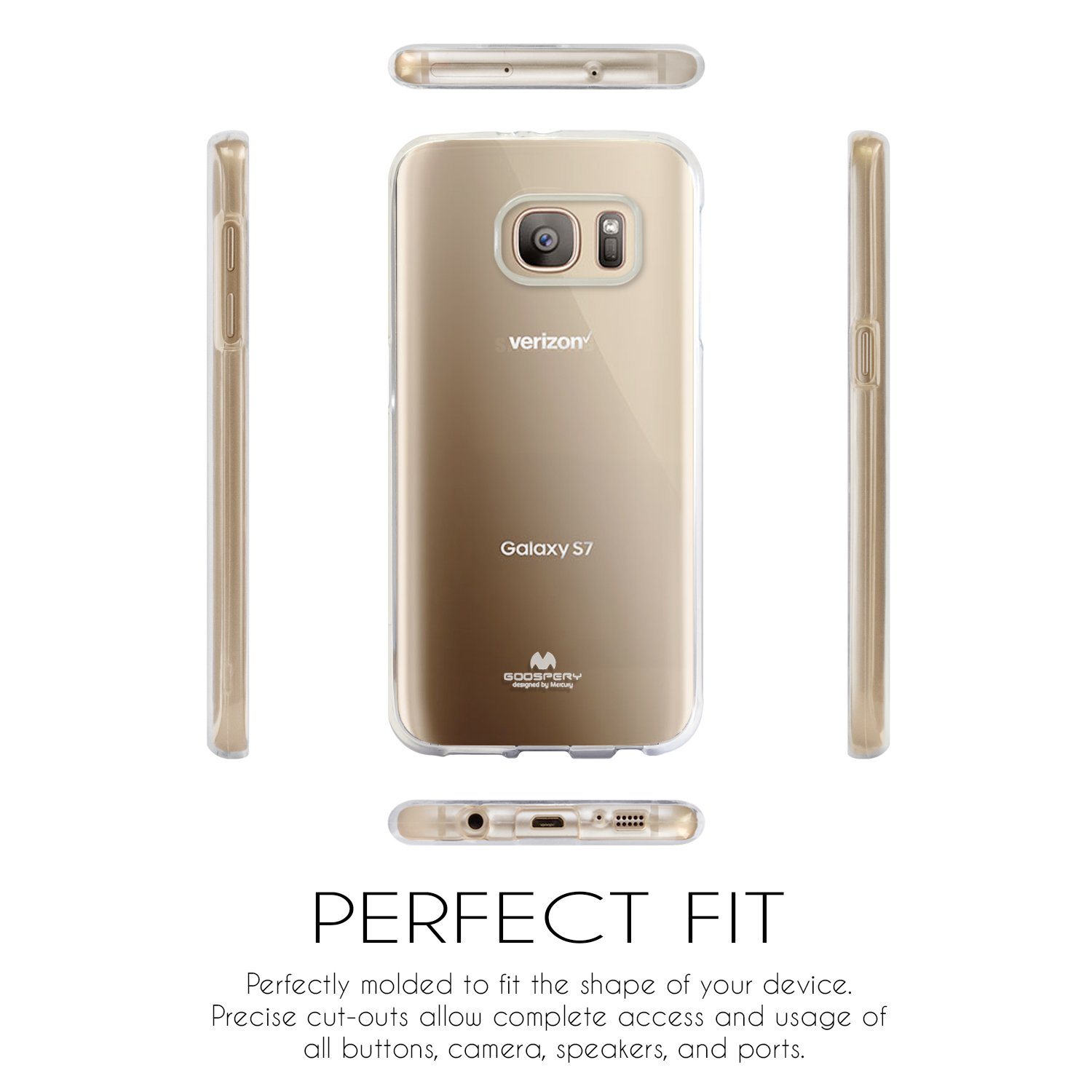 Galaxy S7 Case Thin Slim Goospery Flexible Clear Samsung Soft Feeling Jelly Black Rubber Tpu Lightweight Bumper Cover Impact Resistant For
