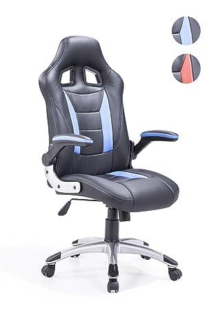 Adec - Silla giratoria Oficina, sillón Escritorio Gaming (Negro y Azul): Amazon.es: Hogar