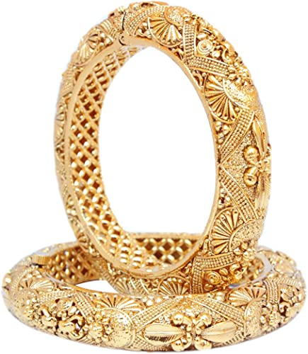 GOLD PLATED TRADITIONAL BOLLYWOOD BRIDAL FASHIONABLE COSTUME JEWELRY BANGLES BRACELET SET