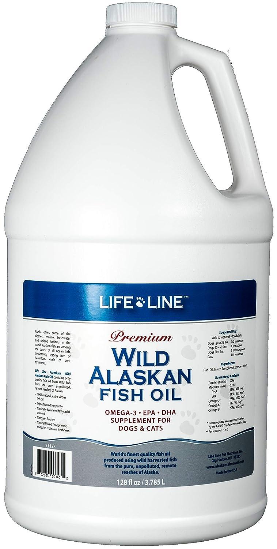 128 Oz Lifeline Wild Alaska Fish Oil for Dogs and Cats, 128Ounce