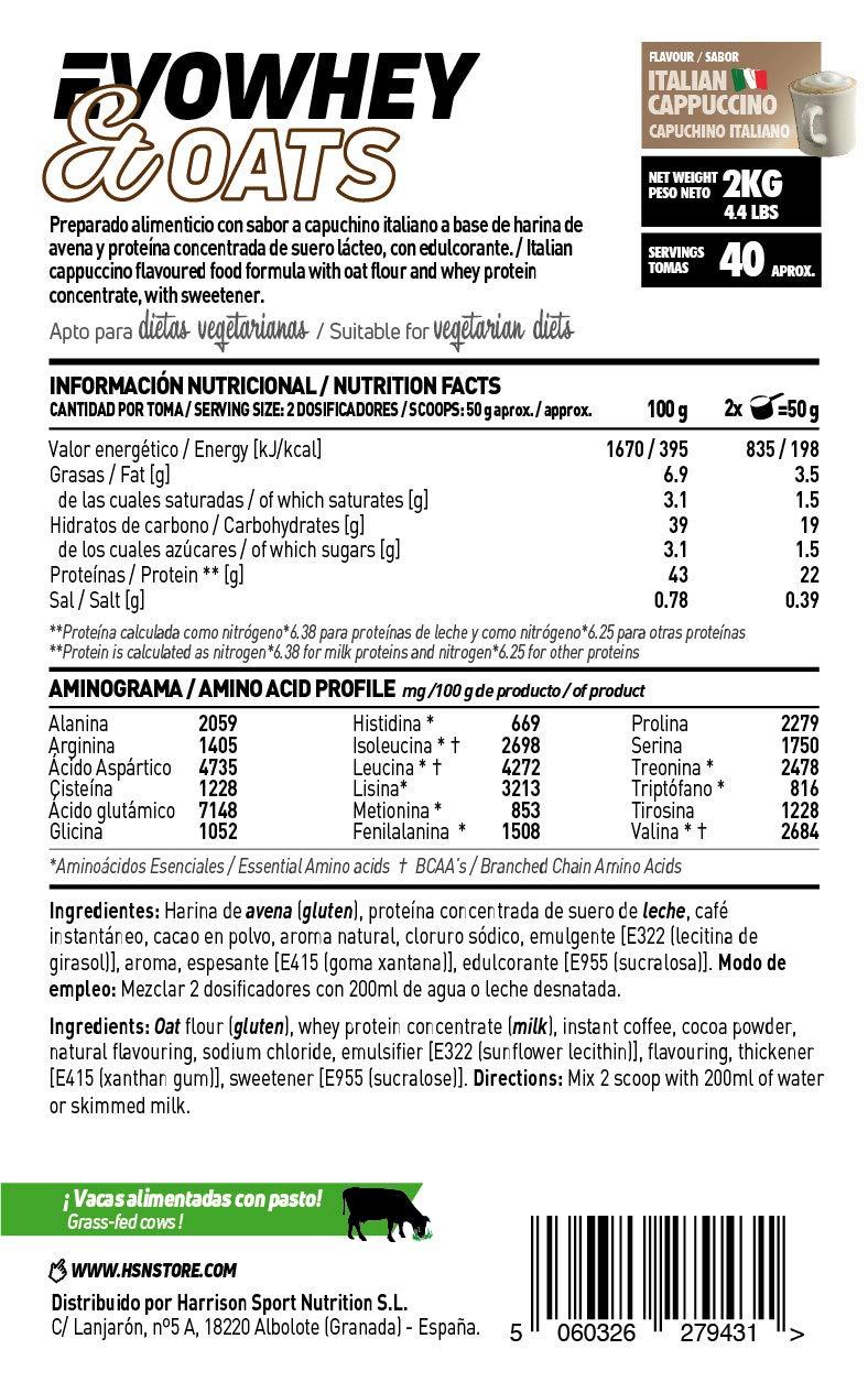 Evowhey & Oats de HSN Sports | Proteína Whey Harina de Avena | Ideal ...