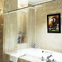 ecooe Cortinas de Ducha 3D Cubo de Agua 100% EVA Material Impermeable Anti Molde, 180 x 200 cm con 12 Anillos Cortina de baño para baño