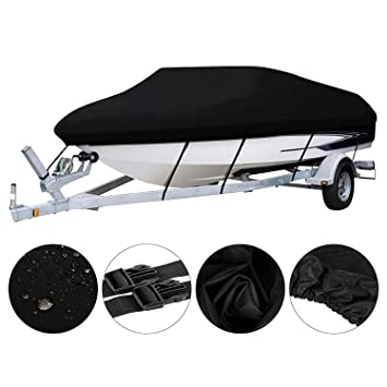 iiSPORT Waterproof Boat Cover - Heavy Duty 600D Polyester