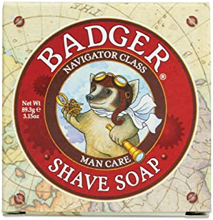 product image for Badger - Shaving Soap Puck, Aloe Vera & Coconut Oil with Bergamot Essential Oil, Natural Shave Soap Puck, Mens Shaving Soap Bar, Shaving Cream Puck, 3.15 oz Bar